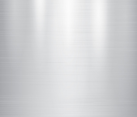 brushed steel: Vector illustration of grey metal, stainless steel texture background Illustration