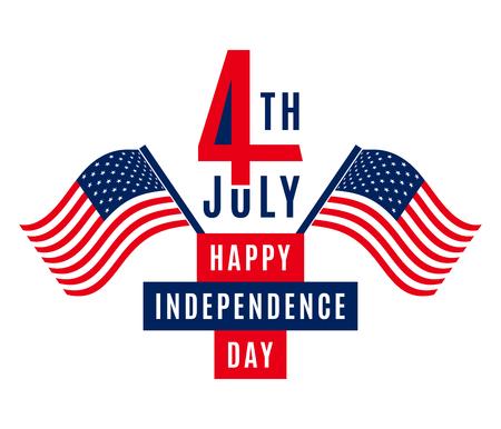 Joyeux Jour de l'Indépendance - 4 Juillet Etats-Unis - Jour du Souvenir - Jour du Drapeau - Patriotique
