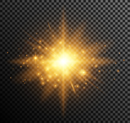 illuminate: Vector illustration of golden light