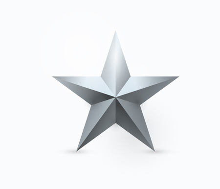 christmas military: Vector illustration of five-pointed metal star design