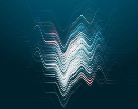 Vector illustration of abstract blue wave background