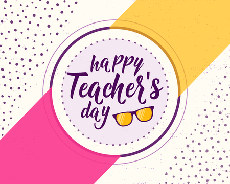 Vector illustration of happy teachers day. Greeting design for print, card Stock Vector - 81365528