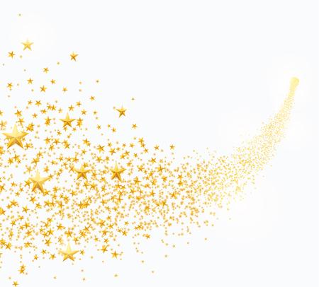 Wektorowa ilustracja abstrakcjonistyczne spada złote gwiazdy, pył