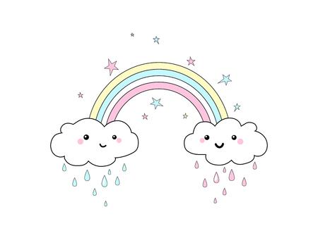 Vector illustration of rainbow print