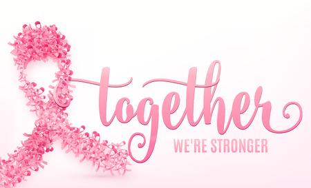 Illustration of breast cancer ribbon Illustration