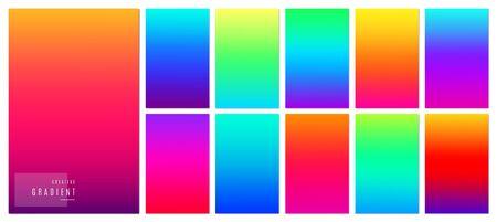Gradient background. Creative soft color design for mobile app. Illustration