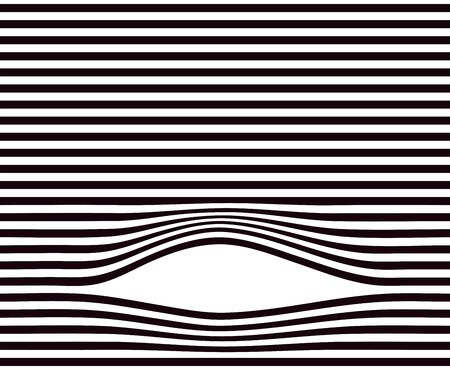 absract art: Lines background. Black and white minimal geometric striped pattern Illustration