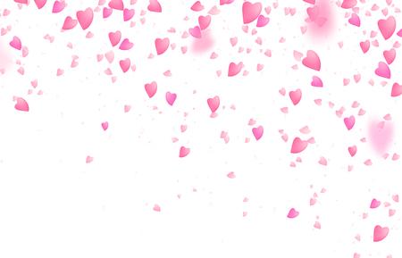 valentines fond de bordure de jour . tomber de coeurs roses d & # 39 ; automne rose