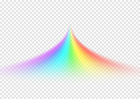 Rainbow road isolated on light transparent background 矢量图像