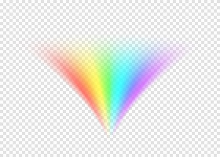 Rainbow road isolated on light transparent background Illustration