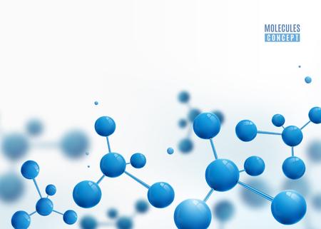 Molecule border design background. Atoms.  イラスト・ベクター素材