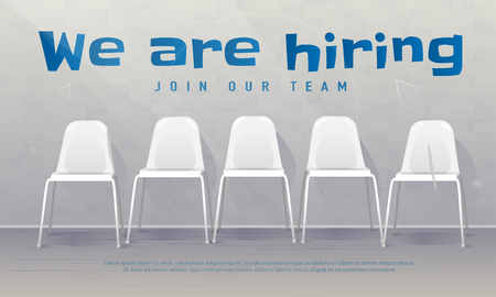 Job recruiting banner. Copy space. We are hiring. Join our team