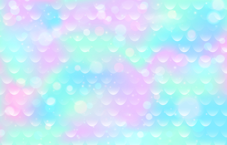 Mermaid scale pattern. Gradient fish texture. Pink blue color marine background