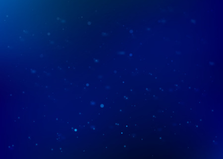 Blue abstract vector background. Glitter particles texture with shiny effect. Dark blue blurred design.