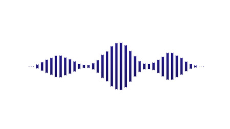 Wave sound vector background. Music flow soundwave design, dark elements isolated on white backdrop. Radio beat frequency consist of lines.