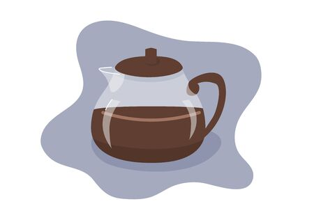 Coffee pot flat vector illustration