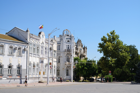 council: EVPATORIA, RUSSIA - JULY 15, 2016: the building of the city Council Editorial