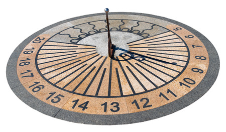 sundial isolated on white
