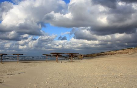 Israel winter beach, nobody photo