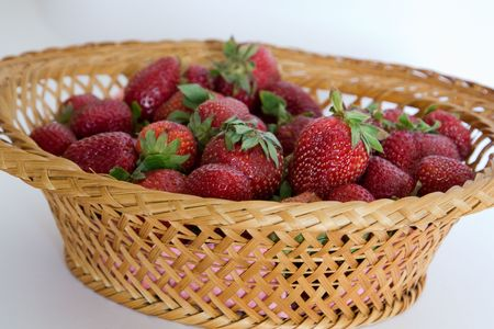 berries in a basket  photo