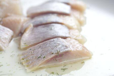 sliced herring. studio isolated.