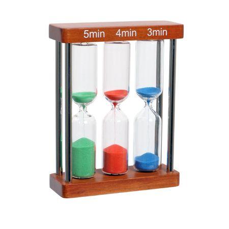hourglass on white background. Studio isolated  Stock Photo