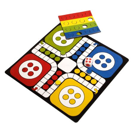 game board: game over white. Studio isolated