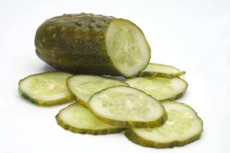 Cucumber salty.  Studio isolated