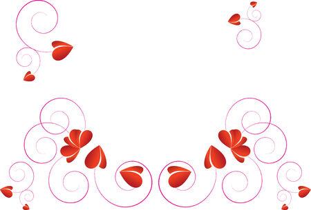 artistic love design wave background Illustration