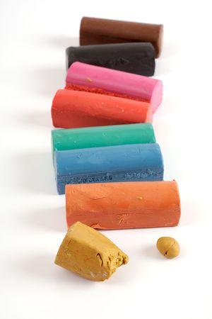 malleable: Colorful plasticine