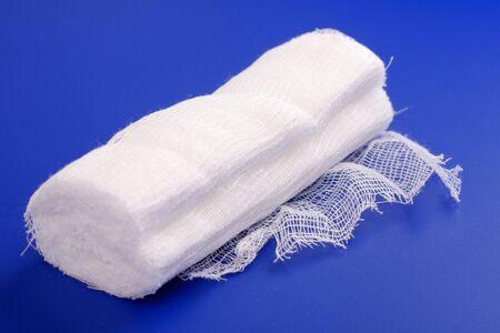 medical bandage on a blue background