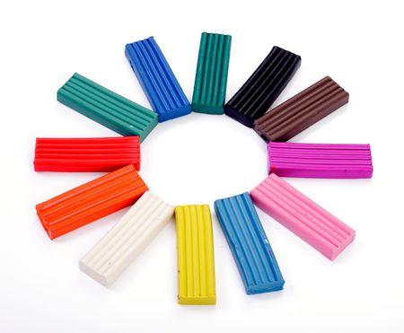 malleable: Plasticine multicolored sun Stock Photo
