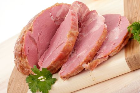 compacted: sliced smoked meat