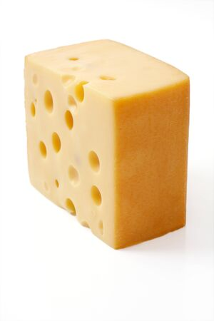 cheese isolated on a white background Stock Photo