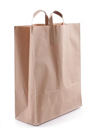 paper bag, over white