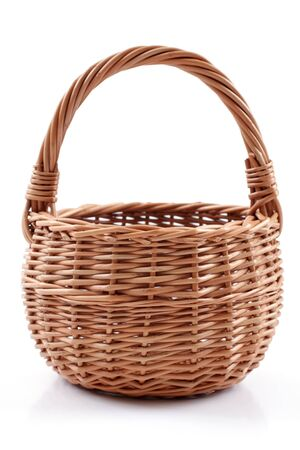 basket  on a white background, studio isolated photo