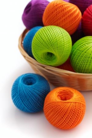 Several balls for crochet