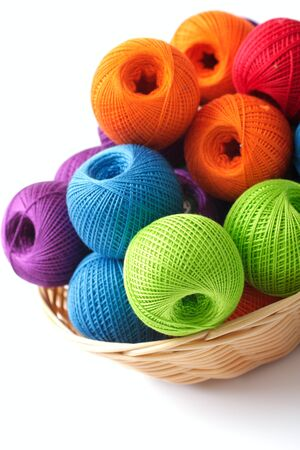 basket for needlework and thread