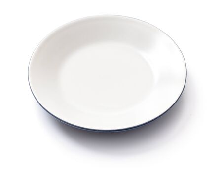 empty plate on a white background Stock Photo