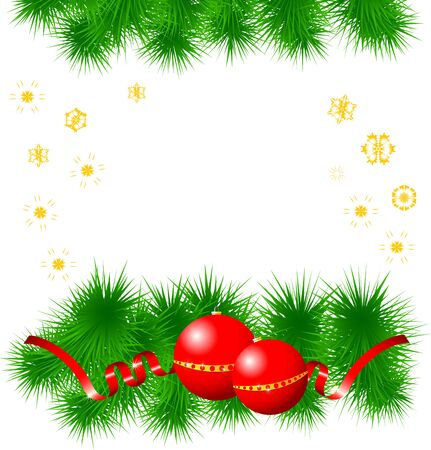 christmas background Vector illustration  Isolated on white background Transparency and gradient mesh not used Vector