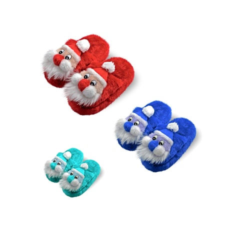 home slippers, Christmas, jver white  Stock Photo - 16664182