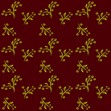 simple floral pattern on a dark background
