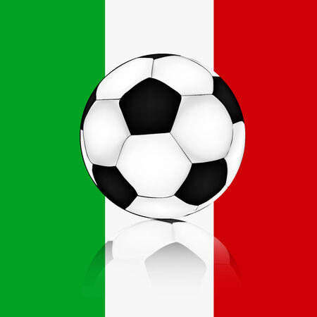 soccer ball background of the flag of Italy Illustration