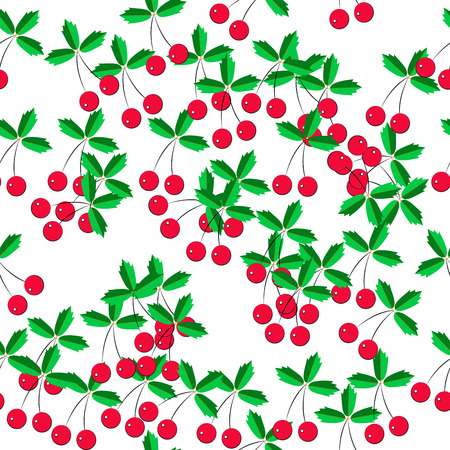 pattern of cherries on a white background, seamless