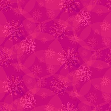 pink pattern of snowflakes