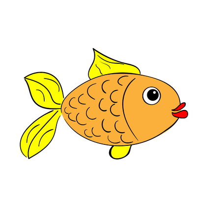 Small fish on a white background Illustration