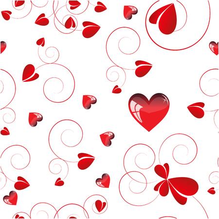 red love design ,white backgroun. Vector illustration, seamless