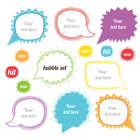 Vector speak bubbles Vector