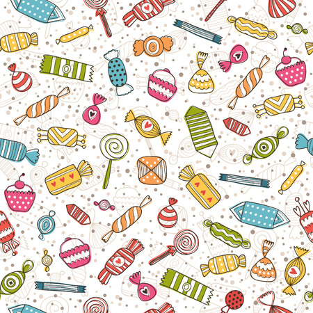 Candy seamless background Imagens - 32604249