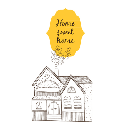 home sweet home: Home sweet home card isolated on white background
